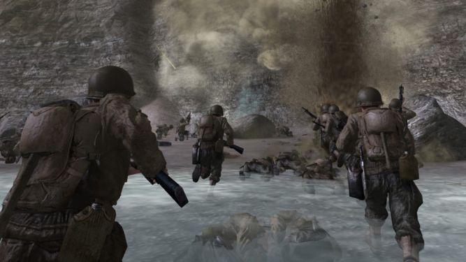 Pointe du Hoc w Normandii w Call of Duty 2