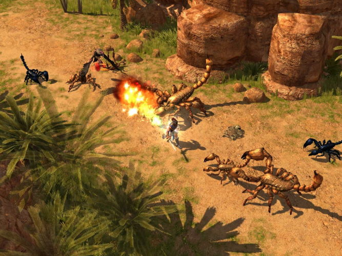 Some Images of Titan Quest.