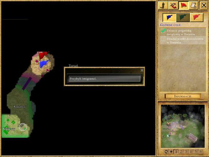 Mapa ułatwia namierzenie celu scenariusza