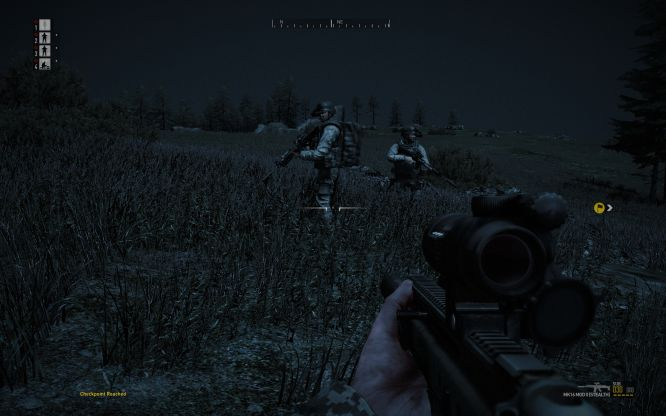 Nocne żołnierzy rozmowy