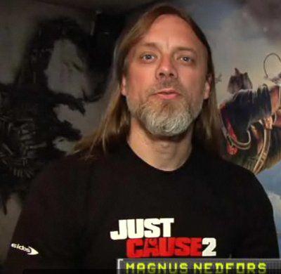 Magnus Nedfors w 2009 roku, ju&#380; jako Lead Game Designer serii <b>Just Cause</b>
